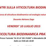 Luglio 2015: Corso di viticoltura biodinamica