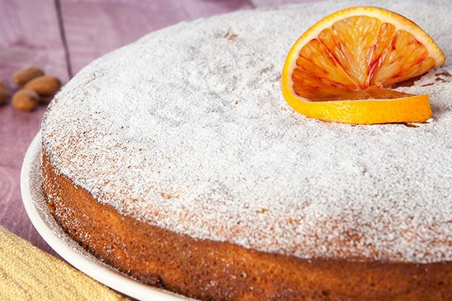 Torta carote e arance